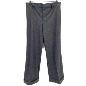 Ralph Lauren Blue Label Wide Leg Cuffed Wool Pants